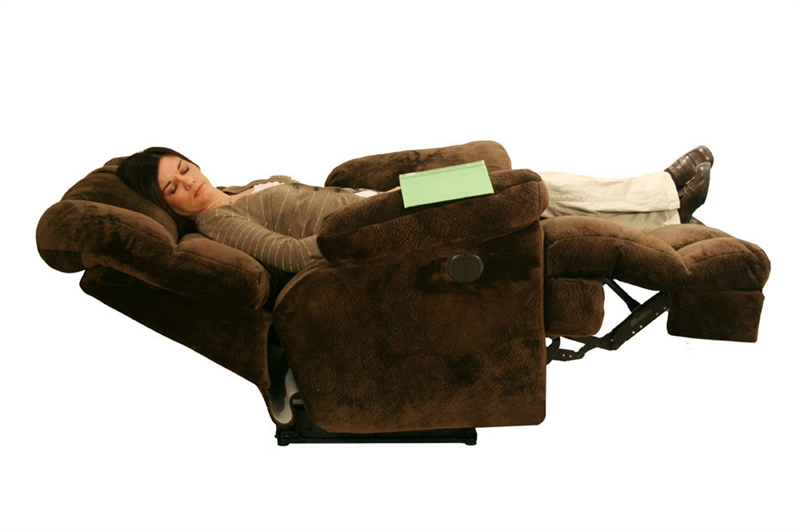 Jackpot Reclining Chaise In Sage Chocolate Or Camel