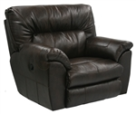 Carmine Lay Flat Recliner in Timber, Pebble or Smoke Leather by Catnapper - 4150-7