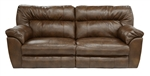 Carmine Lay Flat Reclining Sofa in Timber, Pebble or Smoke Leather by Catnapper - 4151