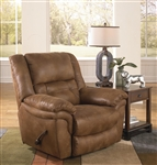 Joyner Lay Flat Recliner Almond, Marble or Slate Fabric by Catnapper - 4250-7