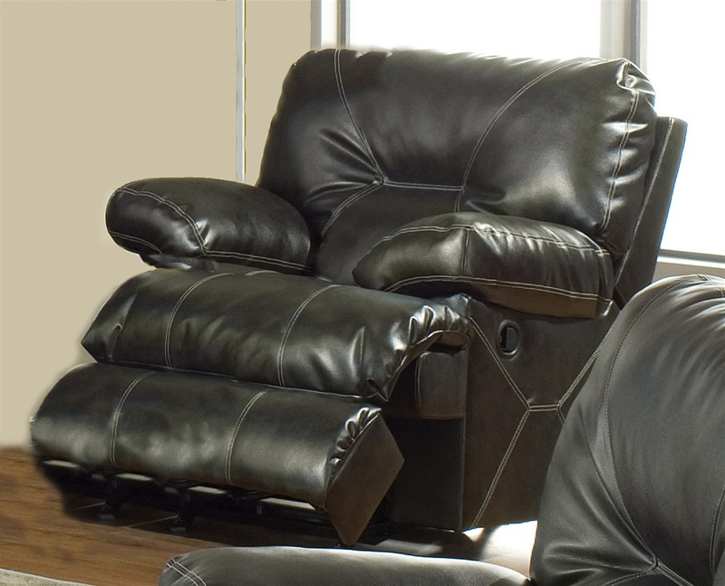 Cortez chaise glider recliner in dark brown leather by for Catnapper reclining chaise