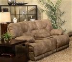 Voyager Lay Flat Reclining Console Loveseat by Catnapper - 4389