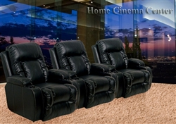 Pallas 3 Piece Space Saving Tan/Dark Brown Theater Seating by Coaster 600193-3