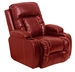 Geneva Theater Seating - 1 Red Leather Chair Manual or Power By Catnapper - 4427rd