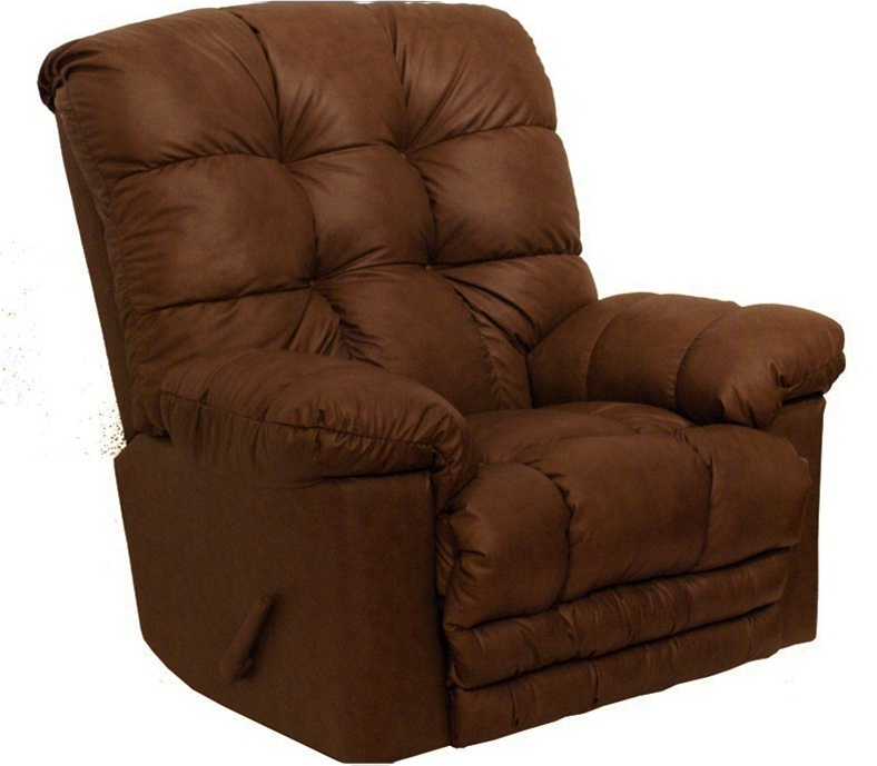 Cloud ten chaise rocker recliner in sable leather by for Catnapper cloud nine chaise recliner