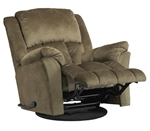 "Gibson Swivel Glider Recliner in ""Sage"" Color Fabric by Catnapper - 4516-5-S"