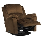 "Gibson Swivel Glider Recliner in ""Walnut"" Color Fabric by Catnapper - 4516-5-W"