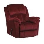 "Gibson Lay Flat Recliner in ""Berry"" Color Fabric by Catnapper - 4516-7-B"