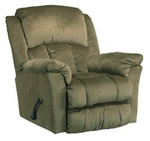 "Gibson Lay Flat Recliner in ""Sage"" Color Fabric by Catnapper - 4516-7-S"