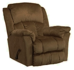 "Gibson Lay Flat Recliner in ""Walnut"" Color Fabric by Catnapper - 4516-7-W"