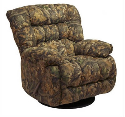 Teddy bear mossy oak camouflage chaise swivel glider for Catnapper teddy bear chaise recliner