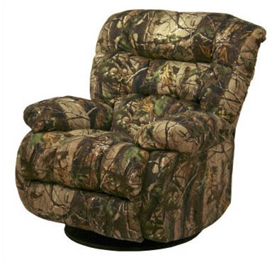 Teddy bear apg green realtree camouflage chaise swivel for Catnapper teddy bear chaise recliner