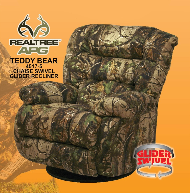 Teddy Bear APG Green   Realtree Camouflage Chaise Swivel Glider Recliner by  Catnapper   4517 5 R CAMOTeddy Bear APG Green   Realtree Camouflage Chaise Swivel Glider  . Realtree Camo Living Room Furniture. Home Design Ideas