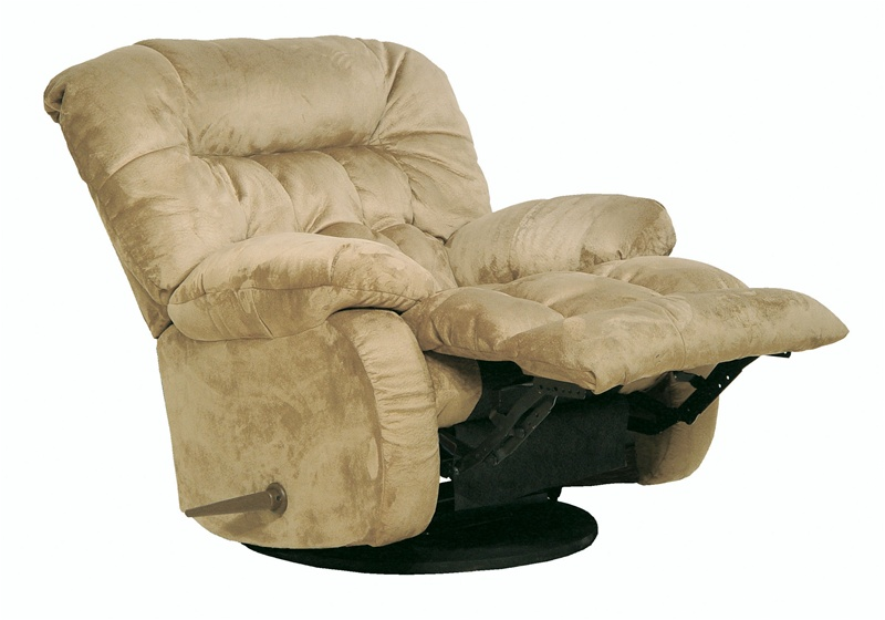 Teddy bear chaise swivel glider recliner sage microfiber for Catnapper teddy bear chaise recliner