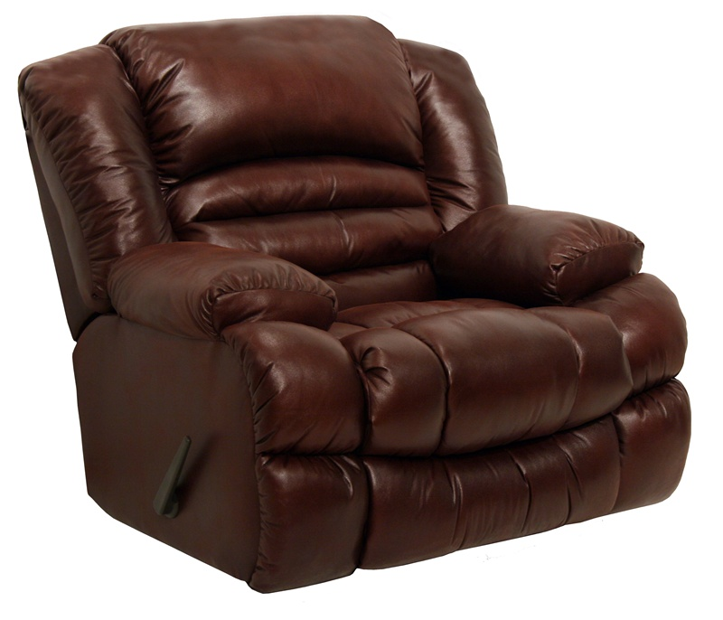 """Italian Leather Sofa By Cake: Sampson Chaise Rocker Recliner In """"Leather Like"""" Wine"""