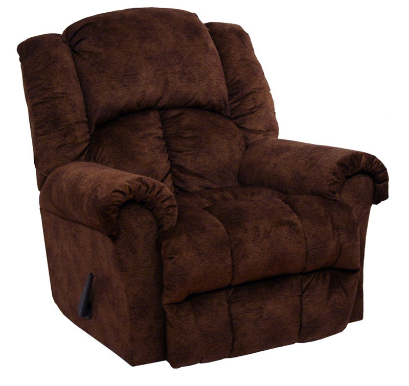 Showdown chaise swivel glider recliner in chocolate pecan for Berkline reclining chaise