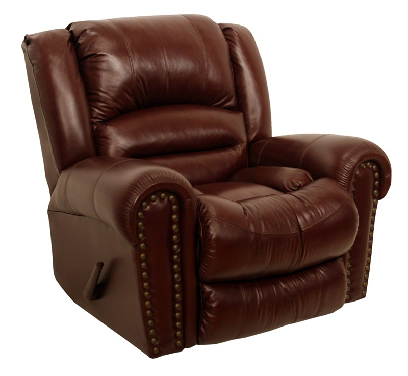 Churchill chaise rocker recliner in cordovan leather by for Catnapper reclining chaise