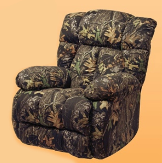 Camo Lounge Chair: Laredo Real-Tree Max 4 Camouflage Chaise Rocker Recliner