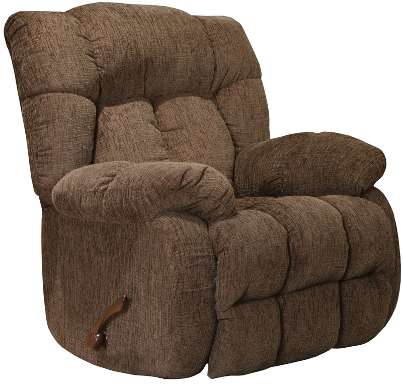 Laredo chaise rocker recliner in chocolate fabric by for Catnapper chaise