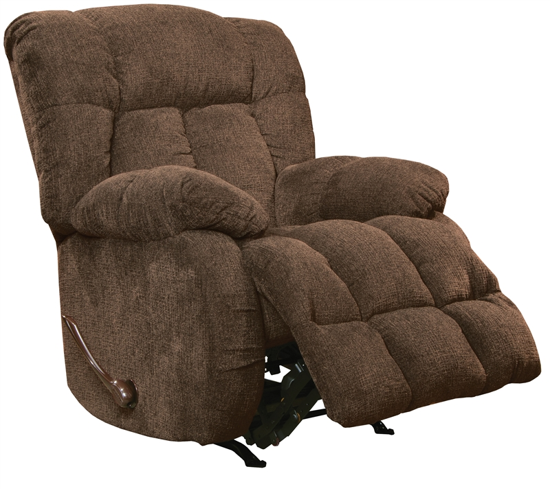 Laredo chaise rocker recliner in chocolate fabric by for Camo chaise lounge
