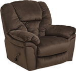Drew Chaise Rocker Recliner in Java Fabric by Catnapper - 4613-2-J