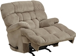 Colson Chaise Rocker Recliner with Heat and Massage in Driftwood Fabric by Catnapper - 4624-2-D