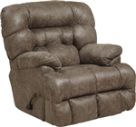 Colson Chaise Rocker Recliner with Heat and Massage in Marble Fabric by Catnapper - 4624-2-M