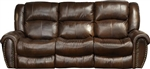 Jordan Lay Flat Reclining Sofa in Tobacco Leather by Catnapper - 4661