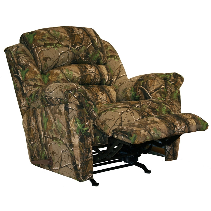 High Roller Realtree Camouflage Chaise Rocker Recliner