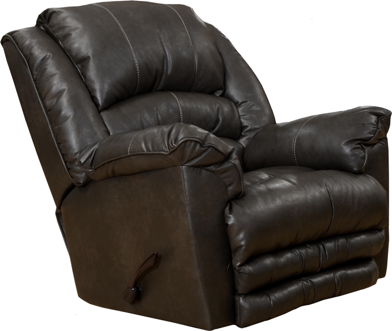 Filmore chaise rocker recliner in godiva leather by for Catnapper recliner chaise
