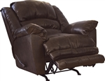 Filmore Chaise Rocker Recliner in Timber Leather by Catnapper - 4745-2-T