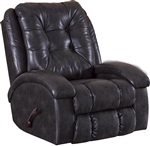 Howell Swivel Glider Recliner in Coal Leather Like Fabric by Catnapper - 4746-5-C