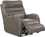 Searcy Rocker Recliner in Ash Leather Like Fabric by Catnapper - 4747-2-A