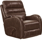 Searcy Rocker Recliner in Coffee Leather Like Fabric by Catnapper - 4747-2-C