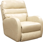 Searcy Rocker Recliner in Parchment Leather Like Fabric by Catnapper - 4747-2-P