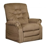 "Patriot ""Pow'r Lift"" Full Lay-Out Recliner in Celery Chenille by Catnapper - 4824-C"