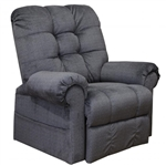 Omni Power Lift Full Lay-Out Chaise Recliner in Ink Chenille by Catnapper - 4827-BP