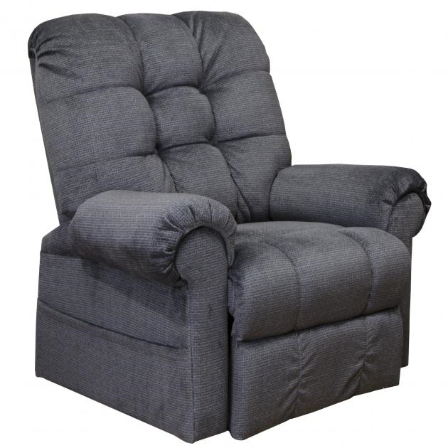 Omni pow 39 r lift full lay out chaise recliner in black for Chaise candie life