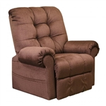 Omni Power Lift Full Lay-Out Chaise Recliner in Merlot Chenille by Catnapper - 4827-CH