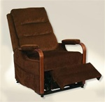 "Emerson ""Pow'r Lift"" Full Lay-Out Recliner in ""Brazil"" Color Fabric by Catnapper - 4845-B"