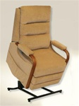 "Emerson ""Pow'r Lift"" Full Lay-Out Recliner in ""Tan"" Color Fabric by Catnapper - 4845-T"