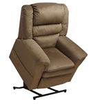 "Preston ""Pow'r Lift"" Pillow Top Recliner in Coffee Fabric by Catnapper - 4850-C"