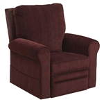"Edwards ""Pow'r Lift"" Recliner in Plum Fabric by Catnapper - 4851-P"