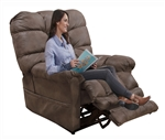 Oliver Power Lift Recliner with Dual Motor and Extended Ottoman in Dusk Fabric by Catnapper - 4861-D