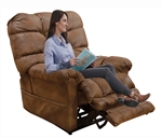 Oliver Power Lift Recliner with Dual Motor and Extended Ottoman in Sunset Fabric by Catnapper - 4861-S