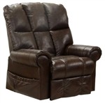 Stallworth POWER Lift Full Lay Out Chaise Recliner in Godiva Leather by Catnapper - 4898-G