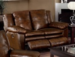 Sonoma Dual Reclining Love Seat in Sable Color Leather by Catnapper - 4972