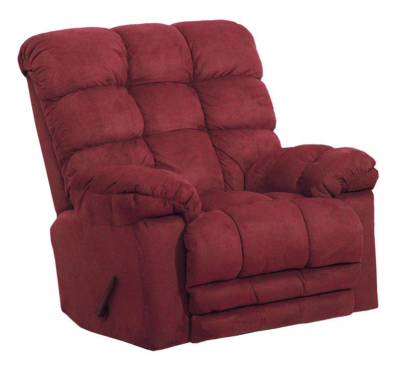 Magnum heat massage chaise rocker recliner in merlot for Catnapper magnum chaise recliner