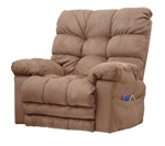 Magnum Heat/Massage Chaise Rocker Recliner in Saddle Fabric by Catnapper - 54689-2-SD