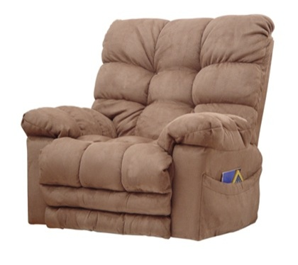 Magnum heat massage chaise rocker recliner in saddle for Catnapper magnum chaise recliner